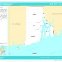 US Map- Rhode Island Counties