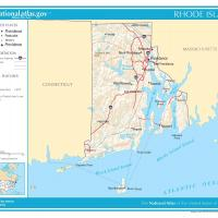 US Map- Rhode Island General Reference
