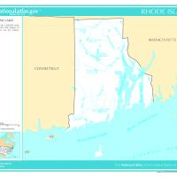 US Map- Rhode Island Rivers and Streams