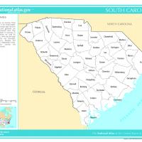 US Map- South Carolina Counties