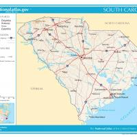 US Map- South Carolina General Reference