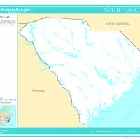 US Map- South Carolina Rivers and Streams
