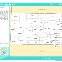 US Map- South Dakota Counties