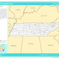 US Map- Tennessee Counties