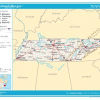 US Map- Tennessee General Reference