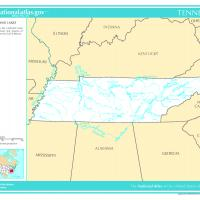 US Map- Tennessee Rivers and Streams