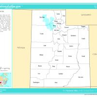 US Map- Utah Counties