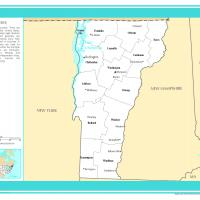 Printable US Map- Vermont Counties with Selected Cities and Towns - Printable Maps - Misc Printables