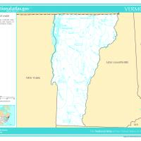 Printable US Map- Vermont Rivers and Streams - Printable Maps - Misc Printables