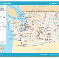 US Map- Washington General Reference