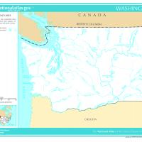 US Map- Washington Rivers and Streams