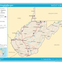 US Map- West Virginia General Reference