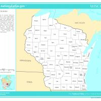 US Map- Wisconsin Counties