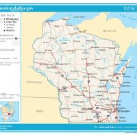 Printable US Map- Wisconsin General Reference - Printable Maps - Misc Printables