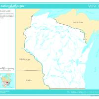 US Map- Wisconsin Rivers and Streams
