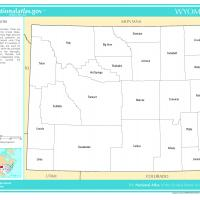 US Map- Wyoming Counties