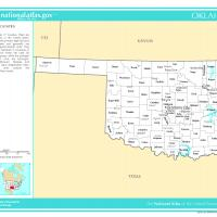 Printable US Map-Oklahoma Counties with Selected Cities and Towns - Printable Maps - Misc Printables
