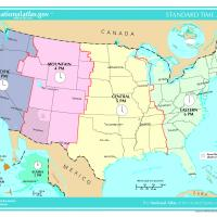US Map-Time Zone