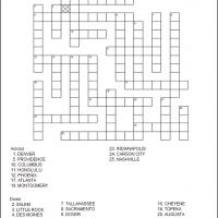 Printable US State Capitals 5 - Printable Crosswords - Free Printable Games