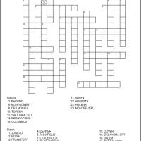Printable US State Capitals Part 2 - Printable Crosswords - Free Printable Games