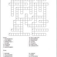 Printable US State Capitals Part 3 - Printable Crosswords - Free Printable Games
