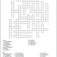 Printable US State Capitals Part 4 - Printable Crosswords - Free Printable Games