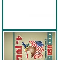 Printable USA Independence Day - Printable Greeting Cards - Free Printable Cards