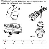 Printable V Beginning Consonant - Printable Preschool Worksheets - Free Printable Worksheets