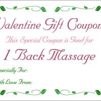 Valentine Back Massage Coupon
