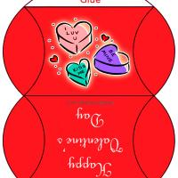 Printable Valentine Candy Box - Printable Party Supplies - Misc Printables