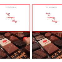 Valentine Chocolate Gift Cards