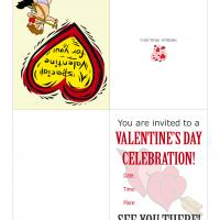Printable Valentine Cupid Party Invitation - Printable Party Invitation Cards - Free Printable Invitations