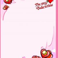 Valentine Heart Stationary