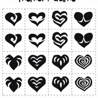 Printable Valentine Hearts Memory Game - Printable Board Games - Free Printable Games