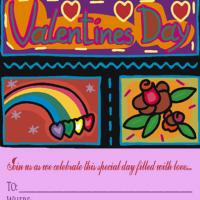 Valentine Hearts Party Invitation