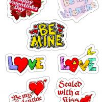 Printable Valentine Sayings Stickers - Printable Stationary - Free Printable Activities