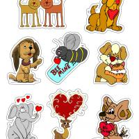 Printable Valentines Creature Stickers - Printable Stationary - Free Printable Activities