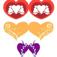 Printable Valetine Heart Mobile - Paper Crafts - Free Printable Crafts