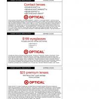 Target Various Optical Coupons