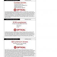 Eyeglasses coupons target