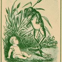 Vintage Frog And Baby Pic
