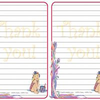 Printable Vintage Girl Stationary - Printable Stationary - Free Printable Activities