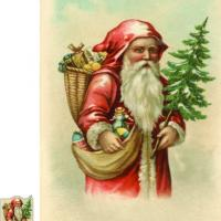 Printable Vintage Santa Wall Hanging - Printable Fun - Free Printable Activities