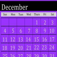 Violet December 2011 Calendar