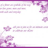 Violet Petals Wedding Invitation