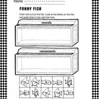 Printable Vowel and Consonant Fish Worksheet - Printable Classroom Lessons - Free Printable Lessons