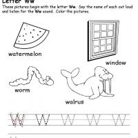 Printable W Beginning Consonant - Printable Preschool Worksheets - Free Printable Worksheets