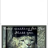 Printable Waiting For Your Return - Printable Greeting Cards - Free Printable Cards