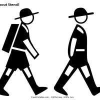 Printable Walking Cub Scout Stencil - Printable Stencils - Free Printable Crafts
