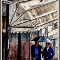 Walking Under The Rain On An Autumn Day Bookmark